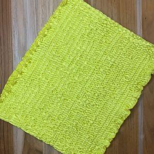 Résumé • Neon Yellow Ribbed Tube Top